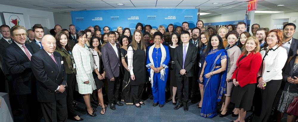 聯合國婦女署的兩大主要倡議——「讓每一位女性都有價值」(Making Every Woman and Girl Count)和「向女性購買」(Buy from Women)都得到了來自阿里巴巴公益基金會的支持。
