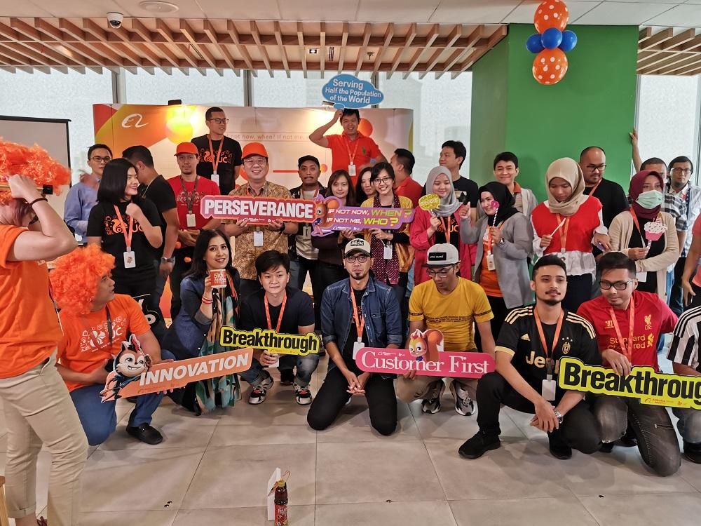 阿里巴巴印尼辦公室員工舉辦派對。