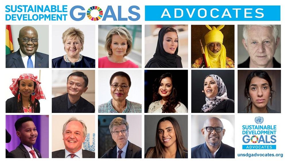 聯合國秘書長安東尼奧‧古特雷斯(António Guterres)任命17位具有影響力的公眾人物,擔任新一屆的可持續發展目標(Sustainable Development Goals,SDGs)倡導者班子。