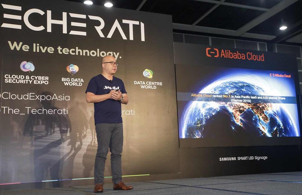 阿里雲港澳及韓國區總經理劉彬星在「Cloud EXPO Asia 2019」上分享,阿里雲致力幫助香港企業把握數碼轉型和區域發展的機遇。