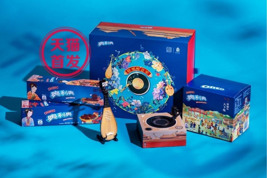 OREO與故宮食品商家「朕的心意」合作的音樂盒禮盒。