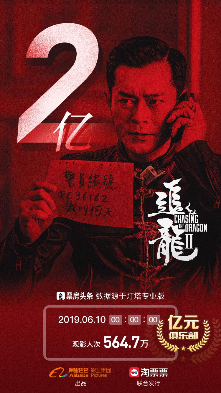《追龍II》於端午節連假期間已突破兩億元人民幣的內地票房。