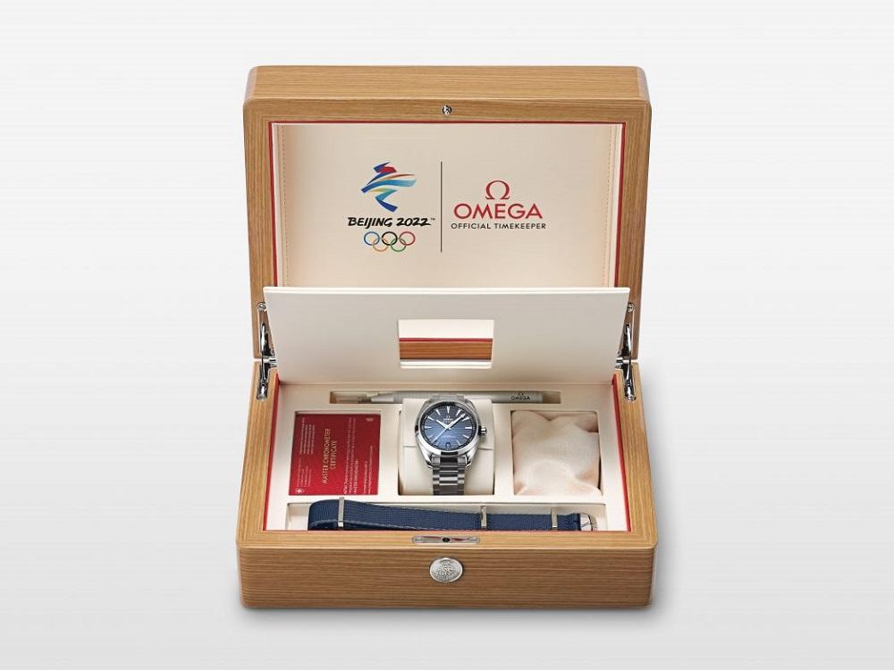 歐米茄Omega發佈了北京冬季奧運會特別定製款限量腕錶。