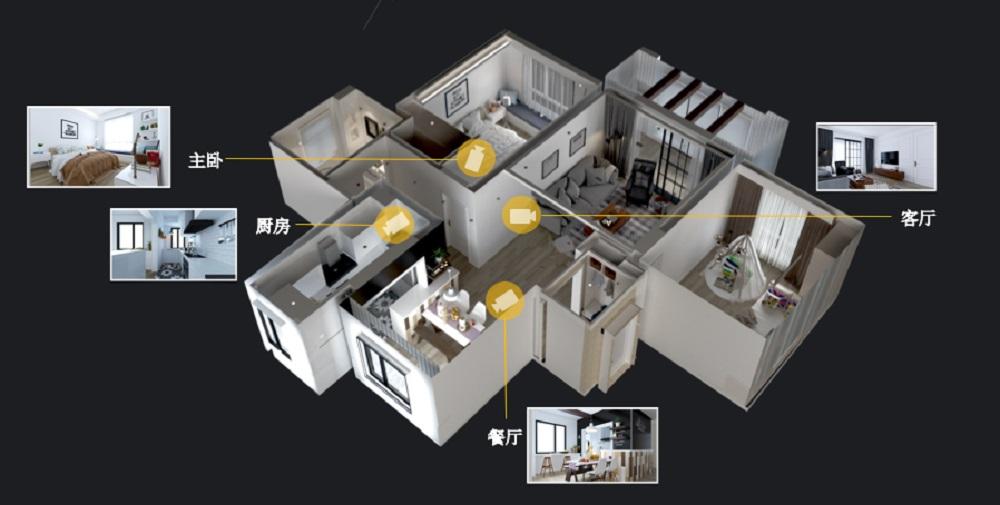 通過加入天貓提供的3D及AR等技術,消費者在購買如家具的場景下,可以先預覽整體效果,購物起來更加得心應手。(模擬效果圖)