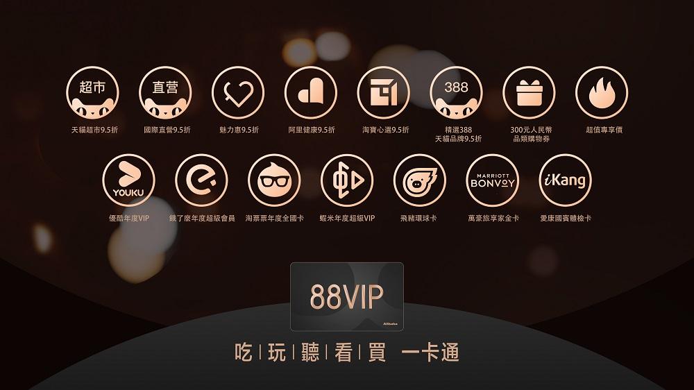 阿里巴巴集團的88VIP推出滿一周年之際宣佈新增會員優惠,為每位淘寶達人「慳到底」