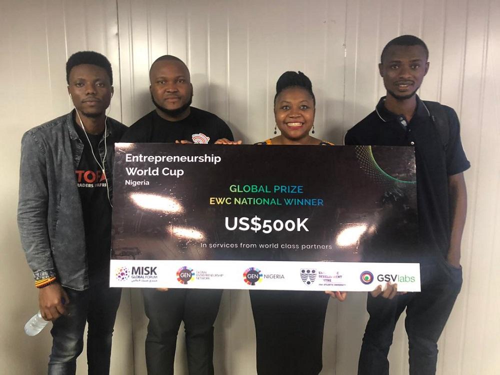 Traders of Africa參加今年的創業者世界盃—尼日利亞站,擊敗約千家同場比賽的初創奪得該國冠軍,今年11月會代表尼日利亞,向來自全球逾百國家的初創較量。(受訪者提供相片)