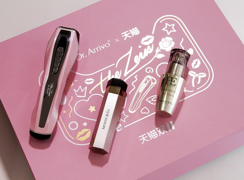 今年天貓雙11活動期間,化妝品牌ARTISTIC&CO.特別推出的新款化妝品禮盒,繼續擴大網上消費市場的影響力。