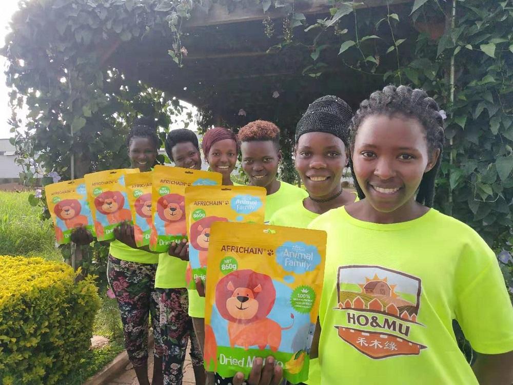 天貓國際訂製款烏干達芒果乾Africhain將亮相進博會。