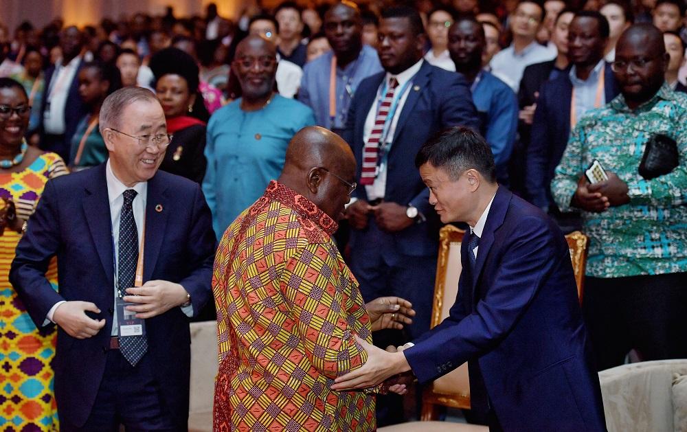 聯合國前秘書長潘基文(圖左)及加納總統Nana Akufo-Addo(圖中)均成為首屆非洲創業者大賽決賽的座上客。