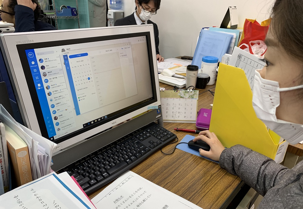 日本大部中小學自3月初開始停課,當地教育界隨即啟動遙距教學模式。