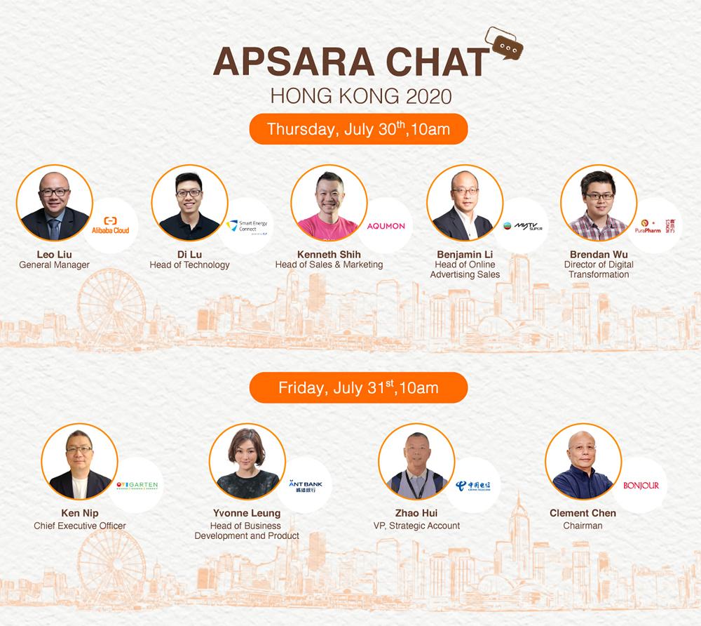 香港企業代表將透過「Apsara Chat」分享數碼轉型的故事。