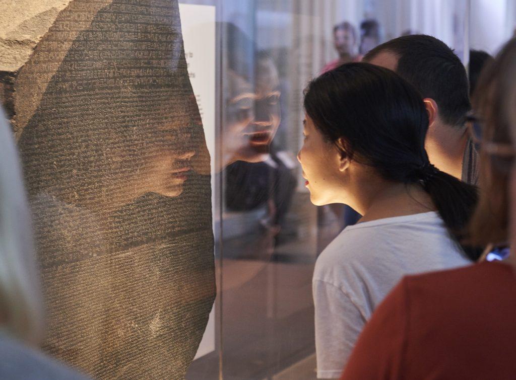 羅塞塔石碑是當代考古學研究古埃及文明的重要關鍵。(大英博物館資料圖片)
